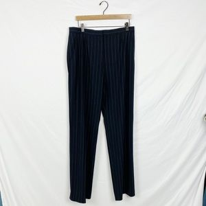 MaxMara Striped Wool Trouser Pant Size US 14